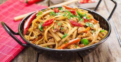 recetas de tallarines chinos al curry