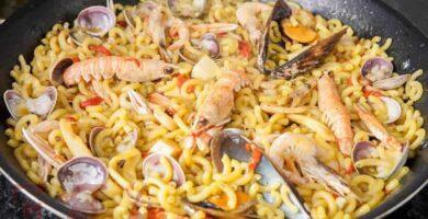 receta de fideua marisco con fideos