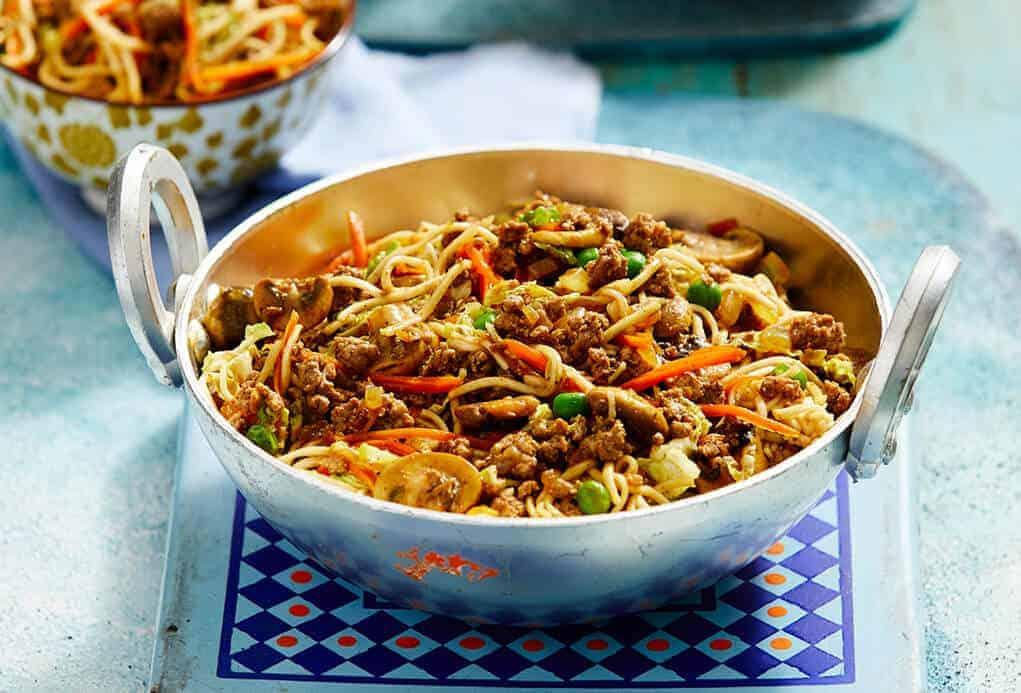 recetas de fideos chinos con carne molida o picada