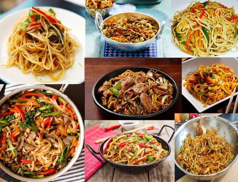 recetas con tallarines chinos