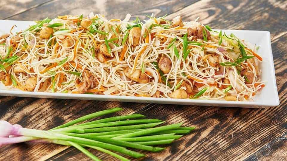 receta de fideos fritos de soja casero con pollo