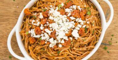receta de fideos casero secos