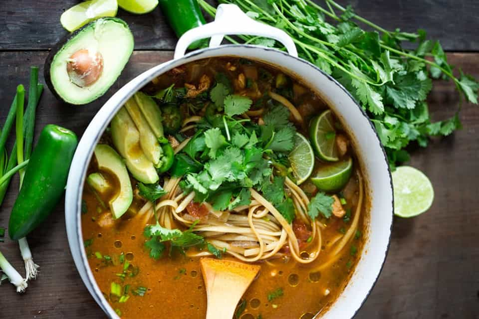 recetas de sopa de fideos fácil y rápida