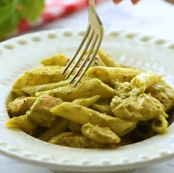 receta pasta al pesto con pollo