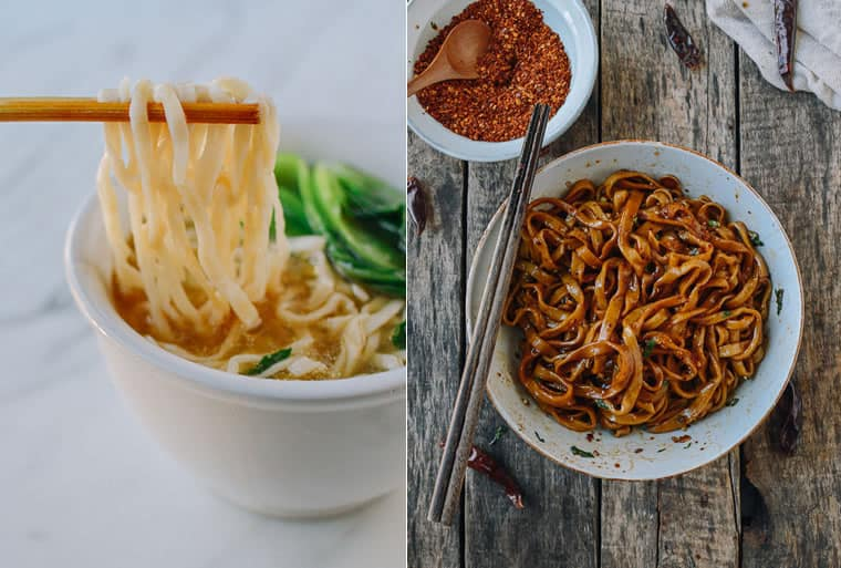 fideos chinos caseros con salsa o sopa