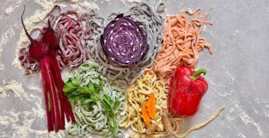 recetas de fideos caseros de colores