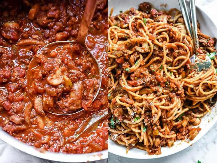 ¿Cómo hacer fideos con salsa y carne molida?