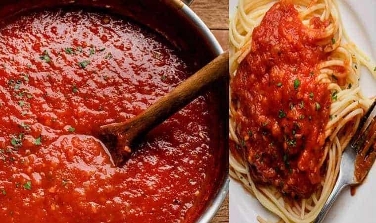 salsa de tomate para fideos