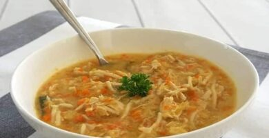 sopa de fideos con pollo en thermomix