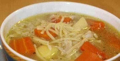 sopa de fideos recetas española
