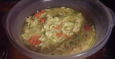 como hacer una sopa de fideos en microondas