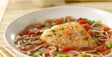 receta de sopa de bacalao con fideos