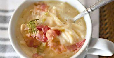 receta de sopa de fideo con queso