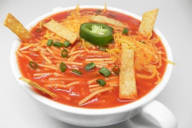 recetas sopa seca de fideos