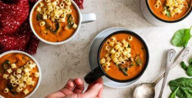 recetas de sopa de fideos con auyama