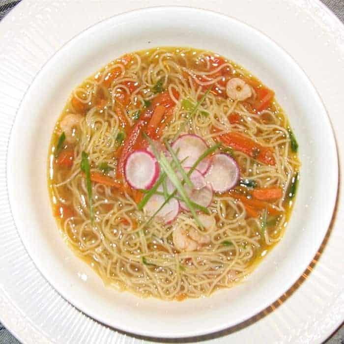 recetas de sopa de gambas con fideos