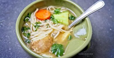 recetas de sopa de fideos con papa y zanahoria
